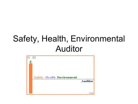Safety, Health, Environmental Auditor. Main Page.