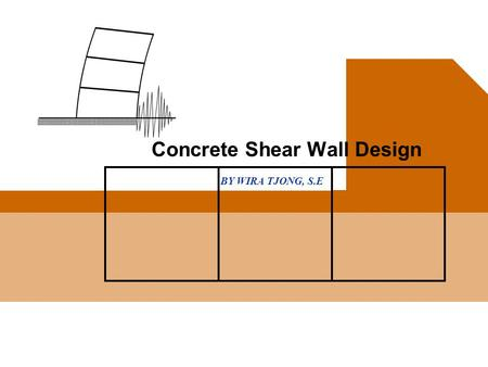 BY WIRA TJONG, S.E Concrete Shear Wall Design. WT Concrete Shear Wall 2 IR. WIRA TJONG, MSCE, SE u Front End Engineer of Fluor Enterprises' Tucson Office,
