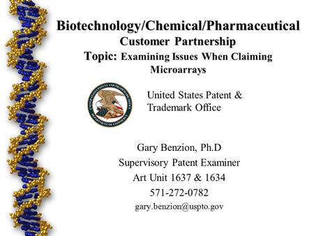 Biotechnology/Chemical/Pharmaceutical Customer Partnership Topic: Biotechnology/Chemical/Pharmaceutical Customer Partnership Topic: Examining Issues When.