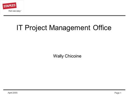 IT Project Management Office