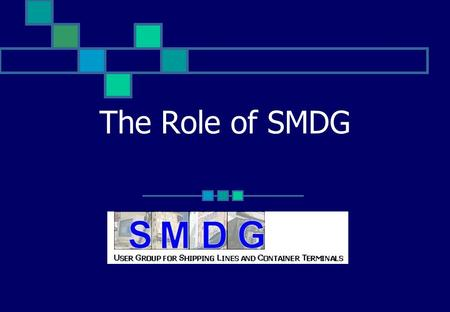 16/04/2017 The Role of SMDG ECT - Simon Spoormaker.