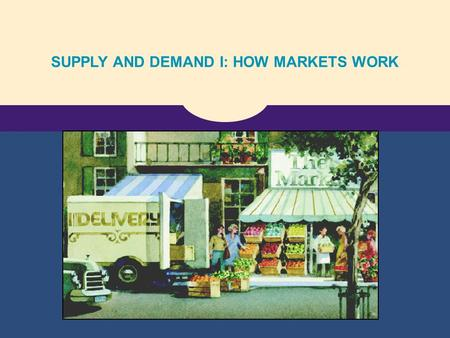 SUPPLY AND DEMAND I: HOW MARKETS WORK. Copyright © 2004 South-Western The Market Forces of Supply and Demand.