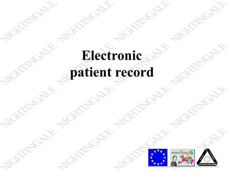 Electronic patient record. Records A record is a group of separate related data fields/elements that form a single unit information. A record may be of.