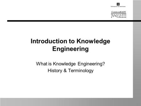 Introduction to Knowledge Engineering