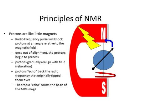 Principles of NMR Protons are like little magnets