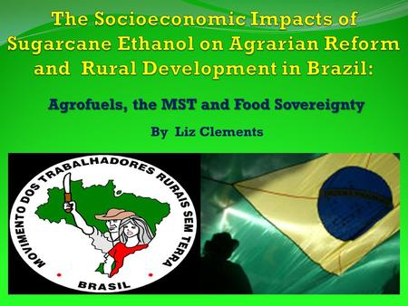 Agrofuels, the MST and Food Sovereignty By Liz Clements.