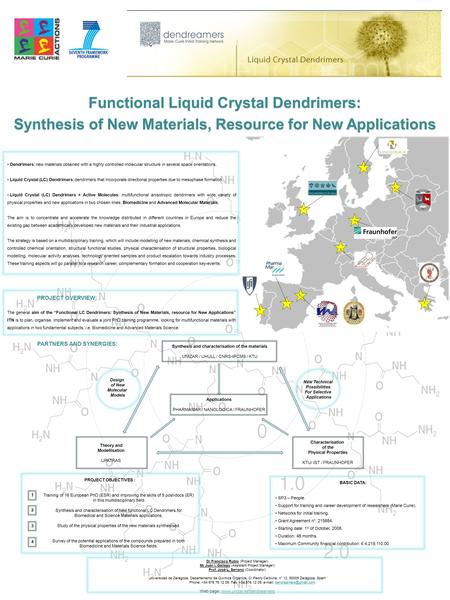 Functional Liquid Crystal Dendrimers: Synthesis of New Materials, Resource for New Applications Functional Liquid Crystal Dendrimers: Synthesis of New.