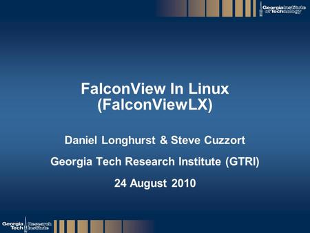 FalconView In Linux (FalconViewLX)