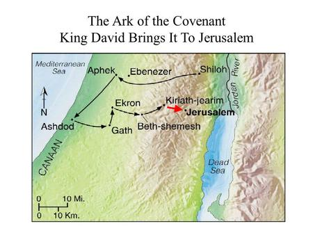The Ark of the Covenant King David Brings It To Jerusalem.