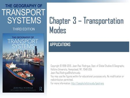 Chapter 3 – Transportation Modes