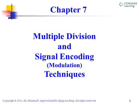 Chapter 7 Multiple Division and Signal Encoding Techniques