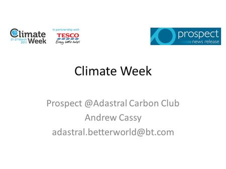 Climate Week Carbon Club Andrew Cassy