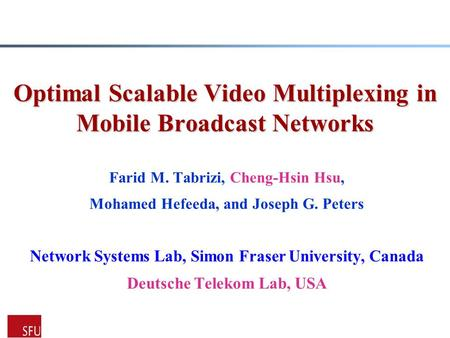 Optimal Scalable Video Multiplexing in Mobile Broadcast Networks