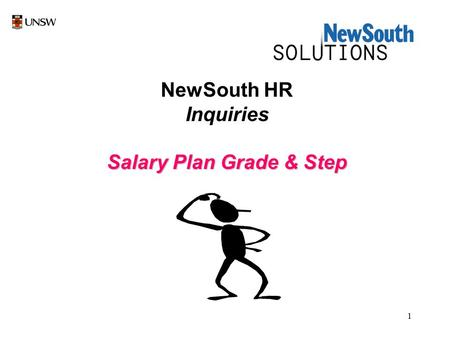 1 NewSouth HR Inquiries Salary Plan Grade & Step.