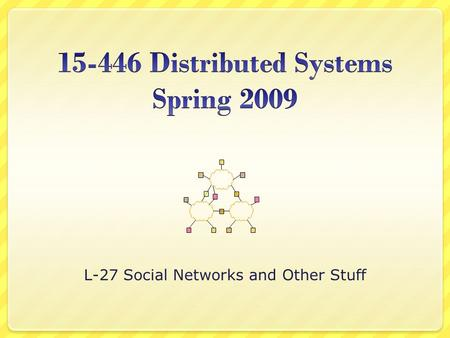 L-27 Social Networks and Other Stuff. Overview Social Networks Multiplayer Games Class Feedback Discussion 2.