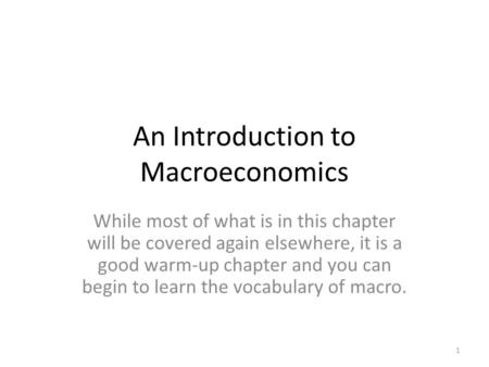 What could be a good introduction?