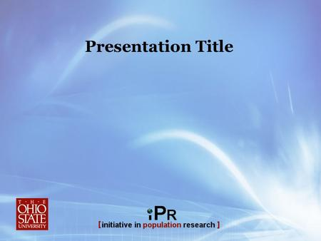 Presentation Title. Presentation Title (can go two or three lines) This Font is Georgia/bold Template Instructions To edit the presentation title above: