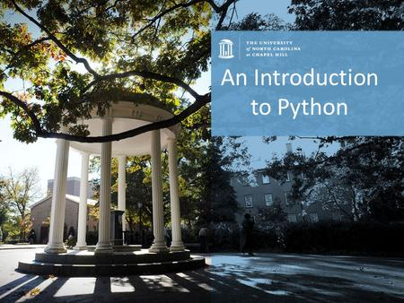 Title An Introduction to Python. What is Python exactly? Python is a modern rapid development language. Code is very clean and easy to read. Emphasizes.