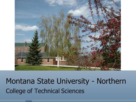 Montana State University - Northern College of Technical Sciences.
