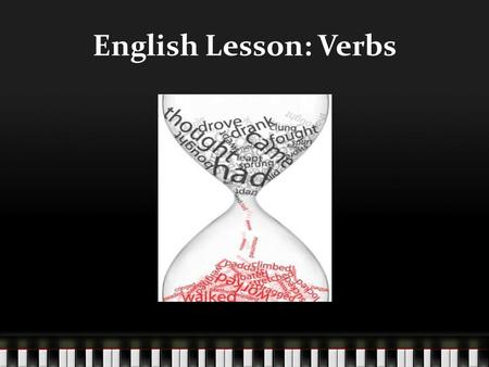 English Lesson: Verbs.