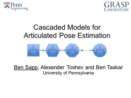 Cascaded Models for Articulated Pose Estimation