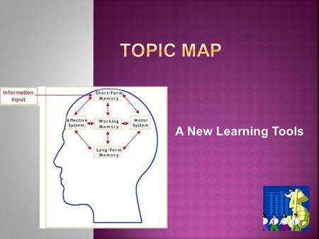 A New Learning Tools. Topic Maps is a standard for the representation and interchange of knowledge, with an emphasis on the findability of information.