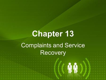 Complaints and Service Recovery
