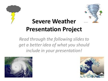 Severe Weather Presentation Project