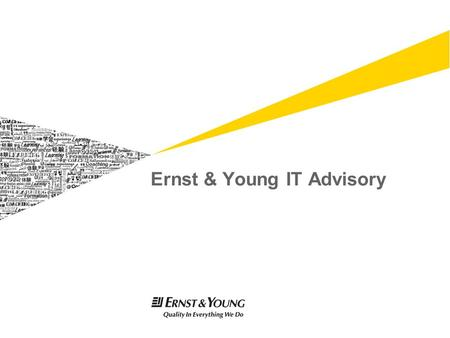 Ernst & Young IT Advisory