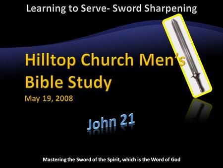 Mastering the Sword of the Spirit, which is the Word of God.