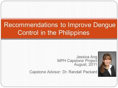 Recommendations to Improve Dengue Control in the Philippines