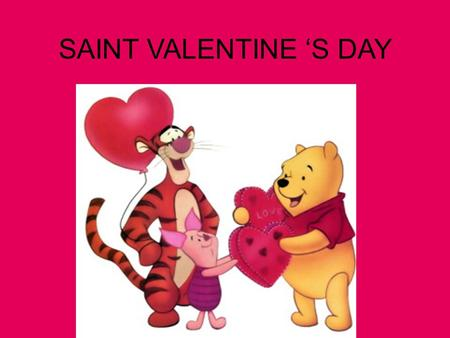 SAINT VALENTINE 'S DAY. Valentine's Day is celebrated on 14th February, the feast day of St. Valentine. It is a traditional celebration in which lovers,