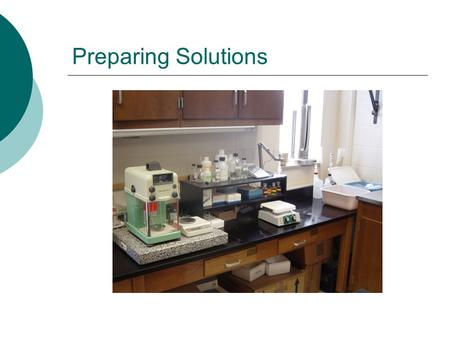 Preparing Solutions. Short Form  Obtain the required amount of ingredients  Dissolve them  Bring to volume (q.s.)  Store.