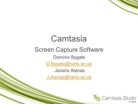 Camtasia Screen Capture Software Dominic Bygate Javiera Atenas