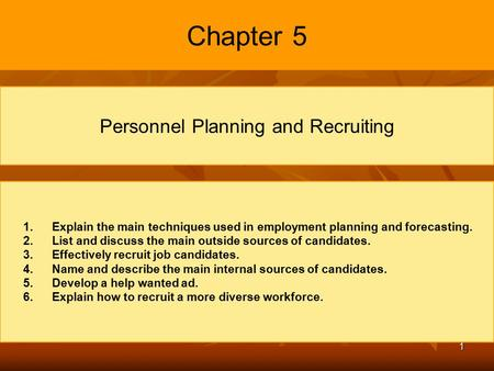 Personnel Planning and Recruiting and Job Analysis