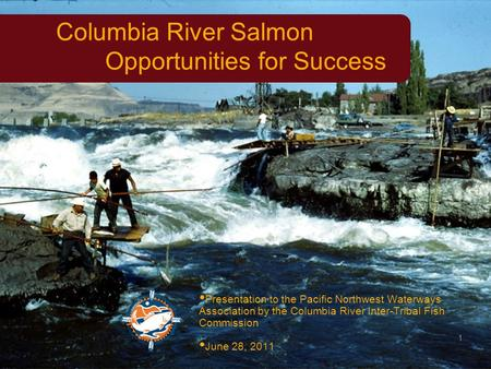 1 Columbia River Salmon Opportunities for Success Presentation to the Pacific Northwest Waterways Association by the Columbia River Inter-Tribal Fish Commission.