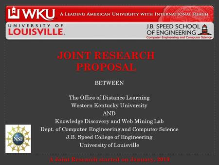 Distance learning research proposal