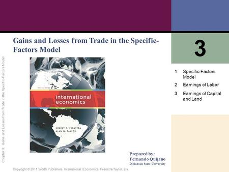 3 Gains and Losses from Trade in the Specific-Factors Model 1