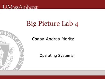 Big Picture Lab 4 Operating Systems Csaba Andras Moritz.