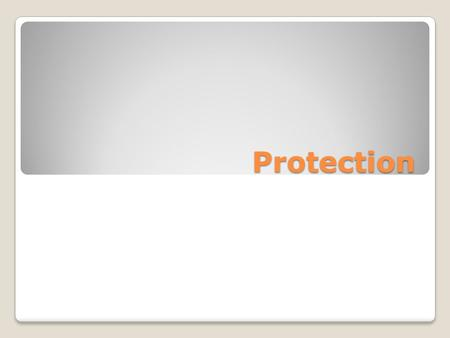 Protection. Goals of Protection Operating system consists of a collection of objects, hardware or software Each object has a unique name and can be accessed.