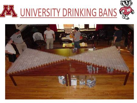 UNIVERSITY DRINKING BANS. Before We Begin What form's of proof does the video show? What form's of proof did I show throughout the course of the presentation.