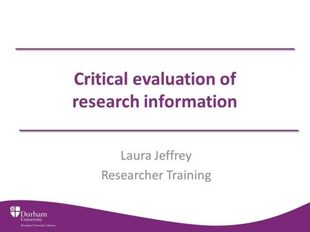 a critical evaluation of the relevance Critical thinking is the ability to importance and benefits of critical thinking process of self-evaluation good critical thinking is the foundation.