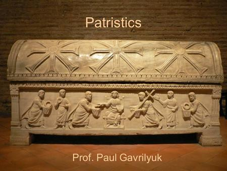 Patristics Prof. Paul Gavrilyuk. Introduction 1.A course overview. 2.Course requirements. 3.Methodological reflections. Christ Enthroned. San Vitale,