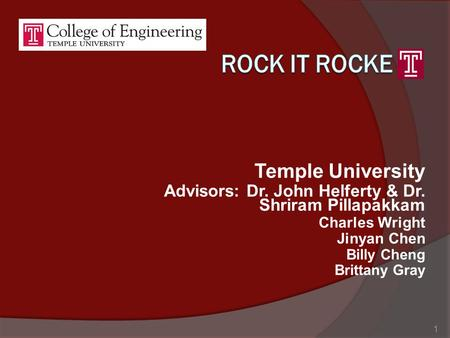 Rock it rocke Temple University