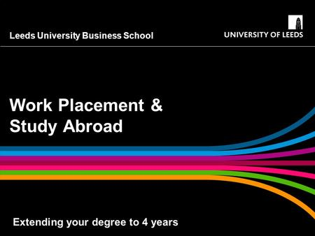 Work Placement & Study Abroad
