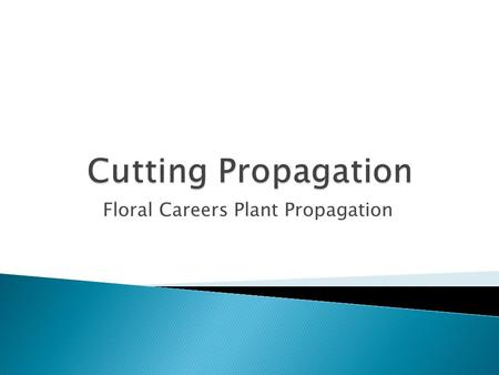 Floral Careers Plant Propagation.  Meristematic: these are composed of actively dividing cells and are responsible for plant growth. ◦ apical meristems.
