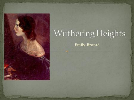 Emily Brontë. The Nightmare, Henry Fuseli, 1781 Wuthering Heights, August Holland, 1960-69.
