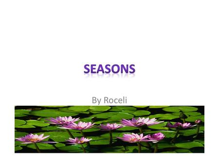 By Roceli Unit Summary Students will be able to discuss and identify season. Student will be able to discuss the types of weather associated to a season.