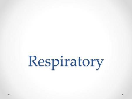 Respiratory. Olfactory A RE: Respiratory epithelium L: Lymphatic tissue A: Bipolar neurons.
