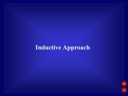 Inductive Approach. Education philosophy Inductive Approach Teacher uses different learning resources to let students conclude certain theory or rule.